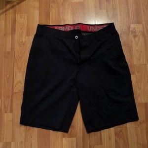 Under Armour Black Golf Shorts